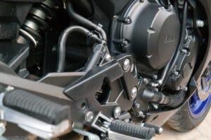 Motorrad mit Oberflächenbeschichtung für Metall